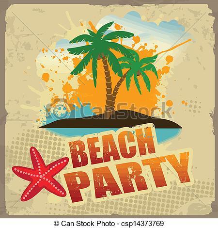 Beach party pictures clip art.