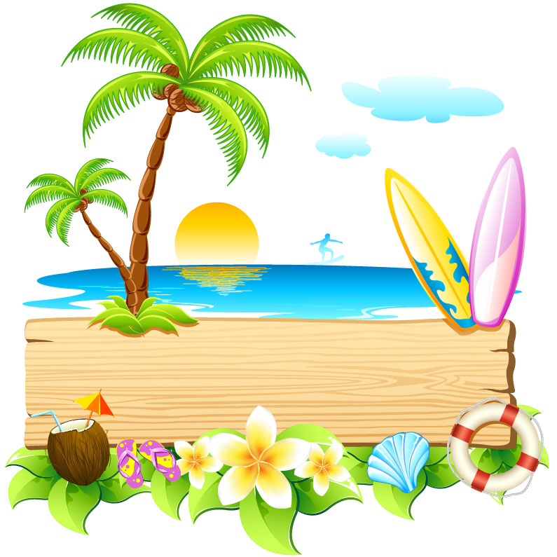 Beach party pictures clip art.
