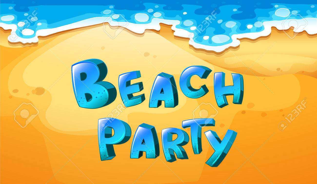 Illustration of a background of beach party.