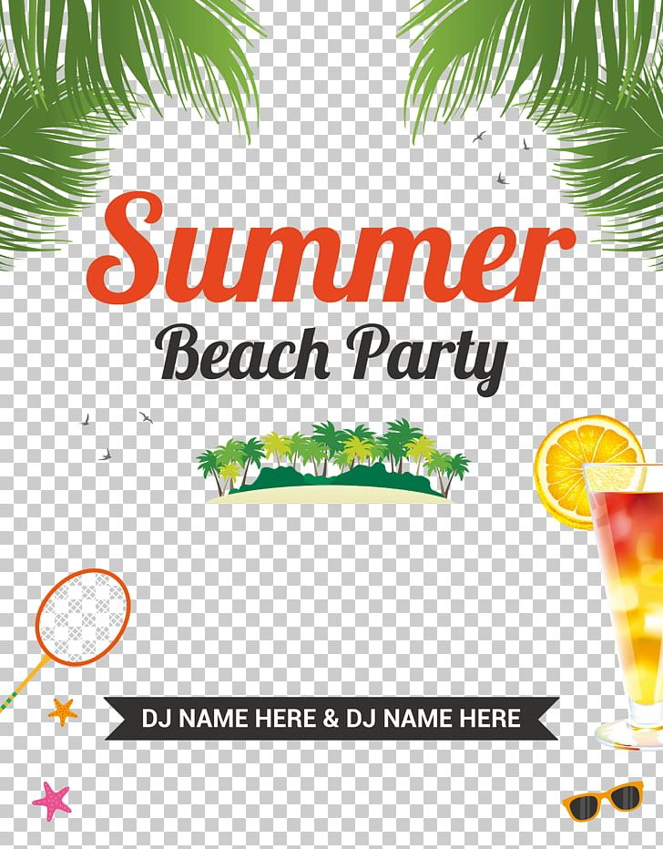 Party Beach Flyer PNG, Clipart, Advertising, Area, Beach, Beaches.