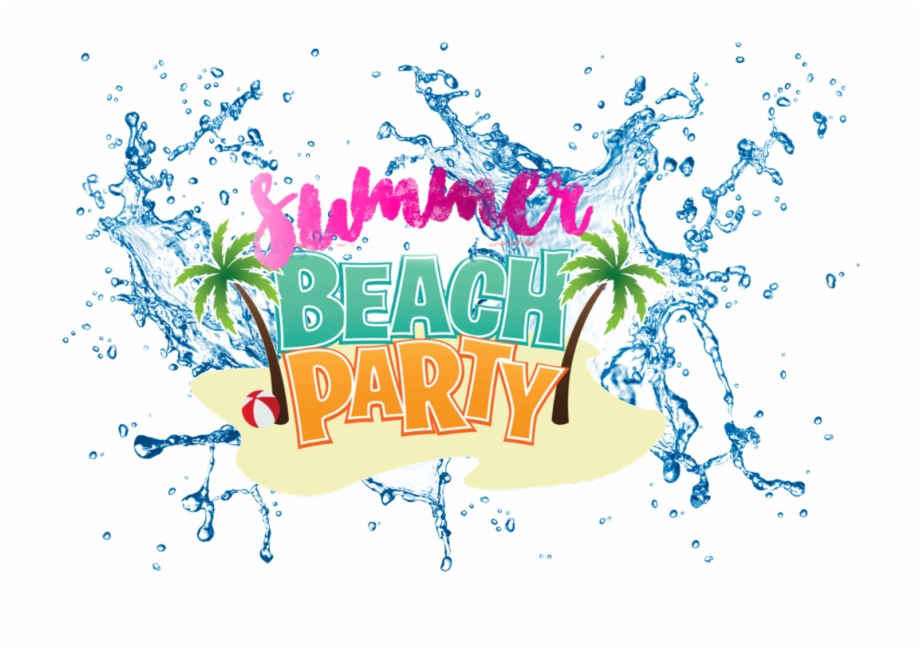 summer #beach #party #water #splash #colorful #words.