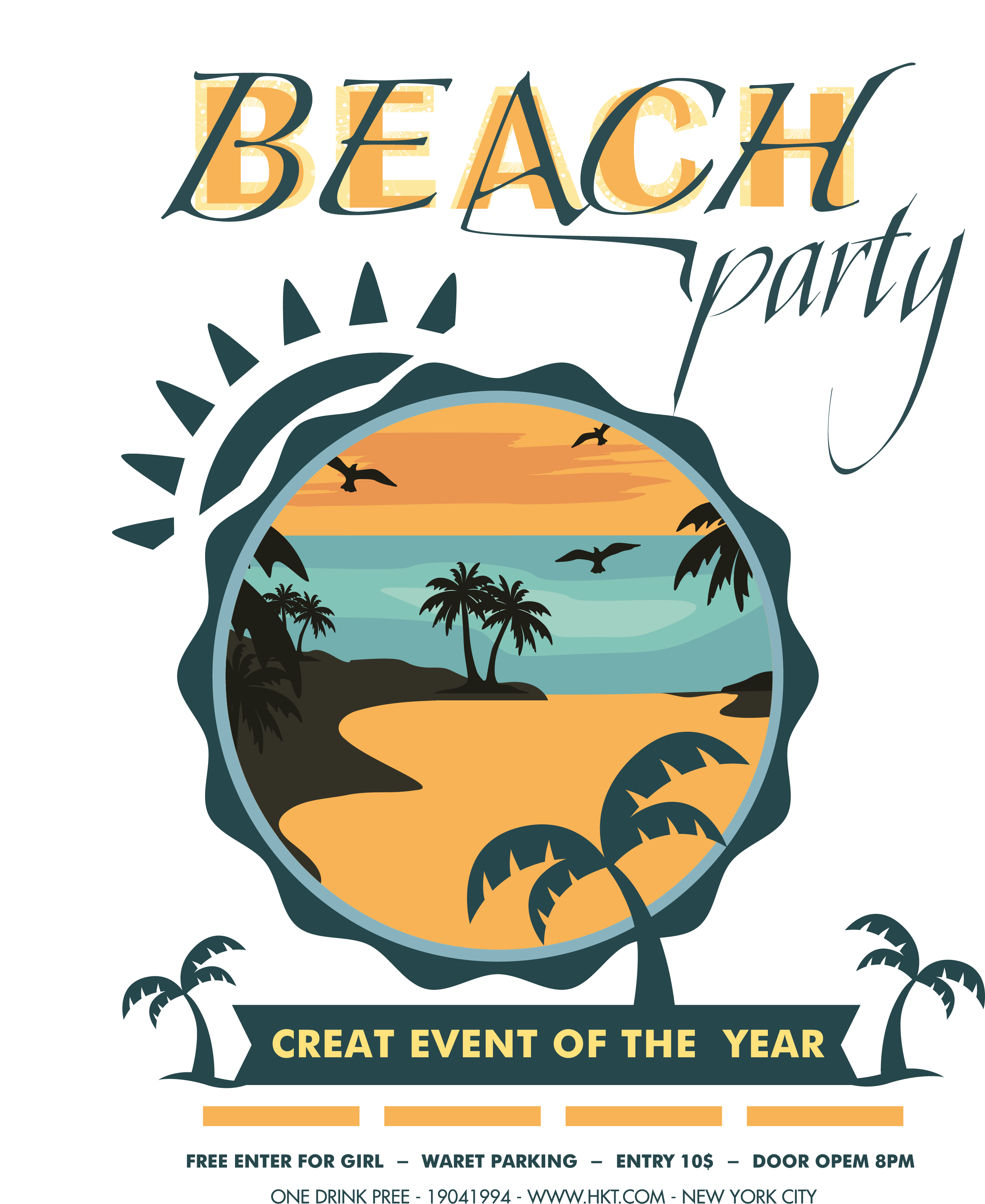 Beach Party PNG Image.