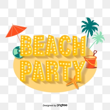 Beach Party PNG Images.