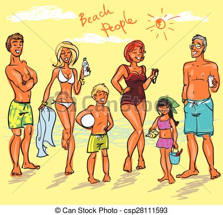 Beach people Clip Art Vector and Illustration. 11,181 Beach people.