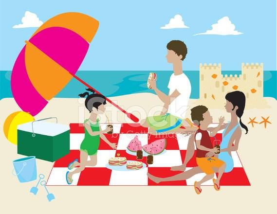 Beach picnic clipart 6 » Clipart Portal.