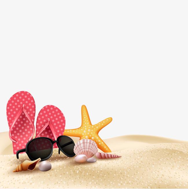 Summer Beach Beach Scene Vector, Summer Vector, Beach Vector, Beach.