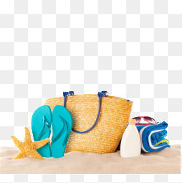 Beach, Beach, Shoe, Bags PNG Image And C #7773.
