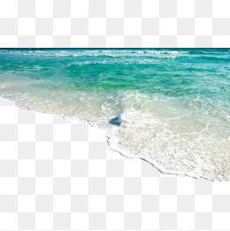 Seawater, Wave, Spray, Sandy Beach PNG I #7786.