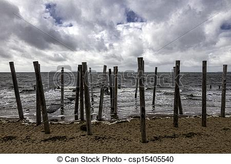 Stock Photo of Beach Promenade near Esbjerg, Denmark.