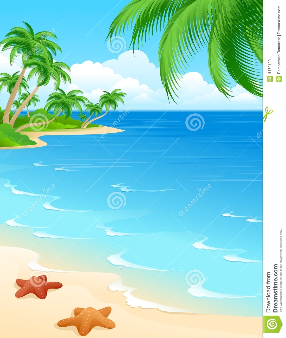 clipart beach scenes - photo #26
