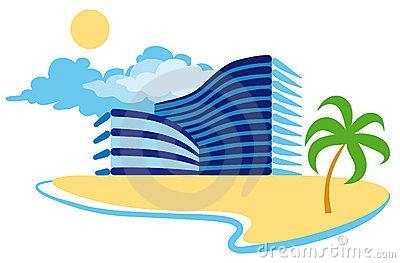 Clip Art Tropical Beach Resorts.