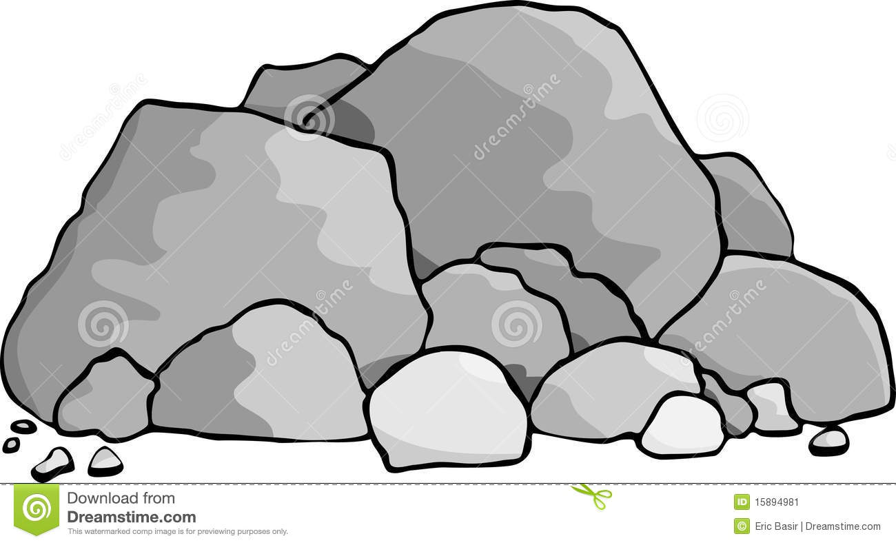 Rocks in water clipart.
