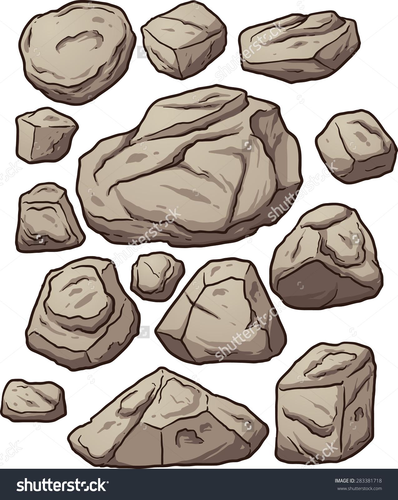 Cartoon Boulders Cartoon Boulders Rocks Pebbles Stock Vector.