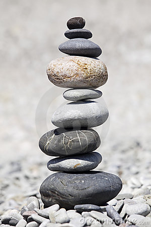 Rocks Stacked On Beach Stock Photography.