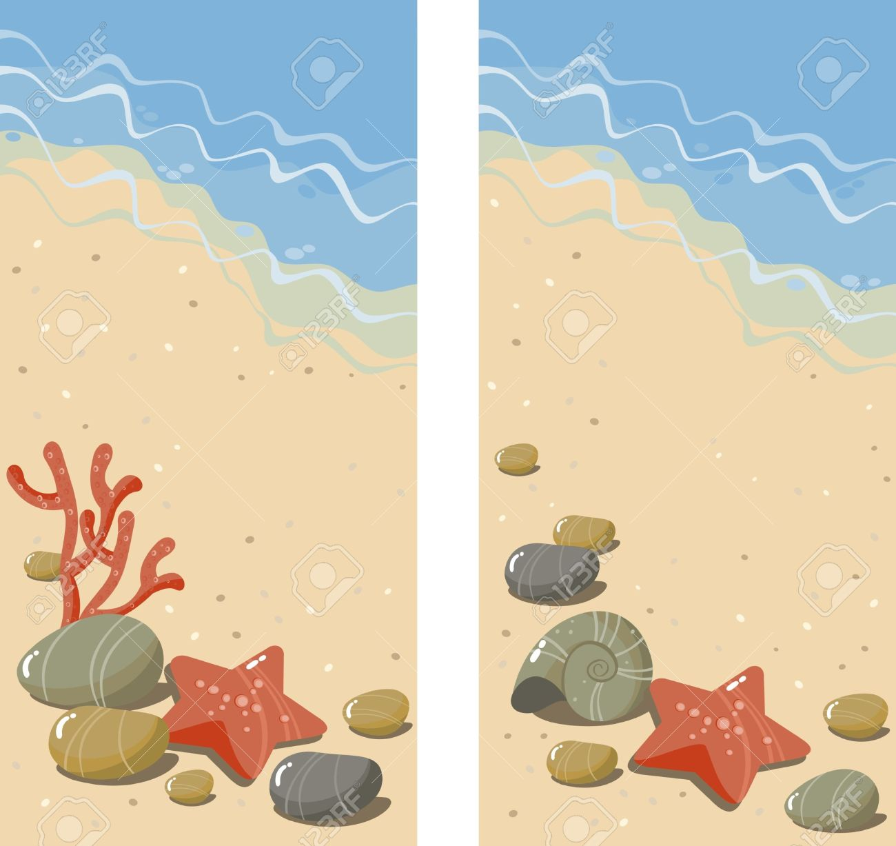 Pebble beach clipart.