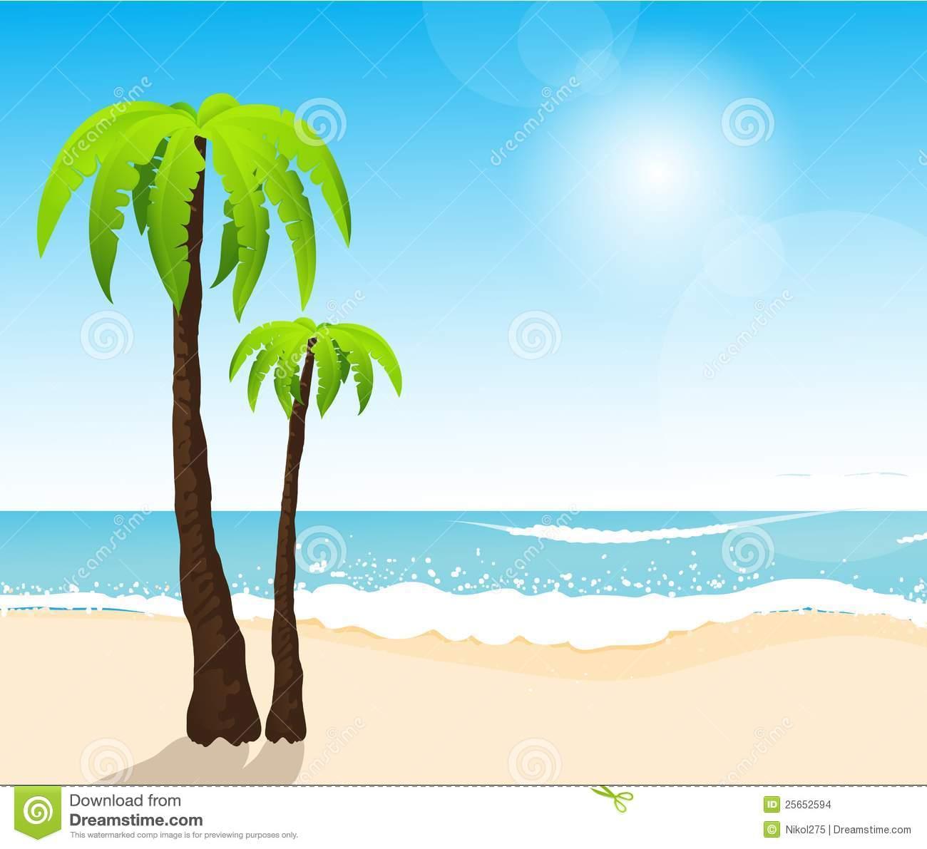 Beach Settings Clipart.
