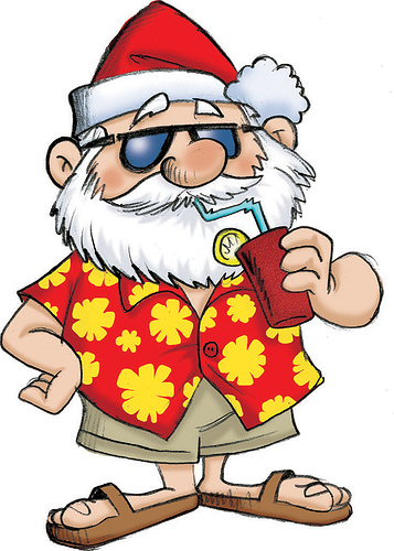 Free Santa On The Beach Clipart, Download Free Clip Art, Free Clip.