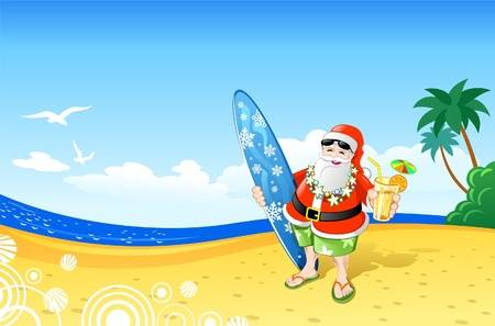 797 Santa Beach Stock Vector Illustration And Royalty Free Santa.