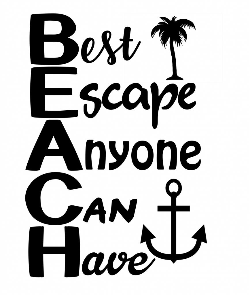 Free Beach SVG File.