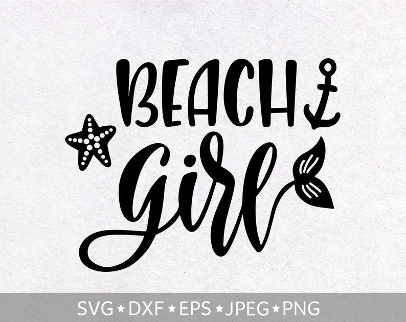 Beach girl SVG, Summer quote svg, Mermaid clipart, Beach sayings digital  print, Baby Girl T.