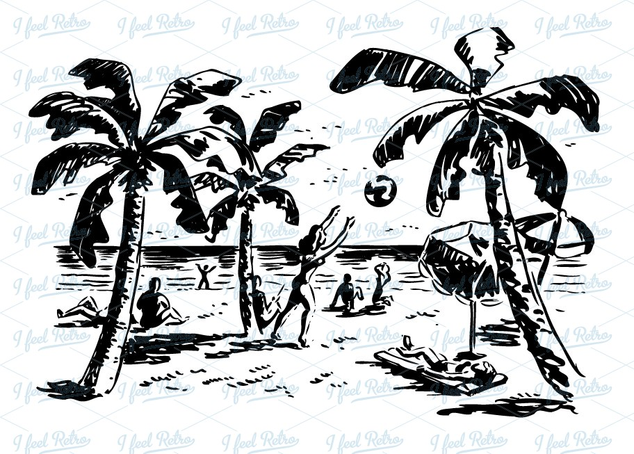 Beach Scene Clipart Black And White (86+ images in Collection) Page 2.