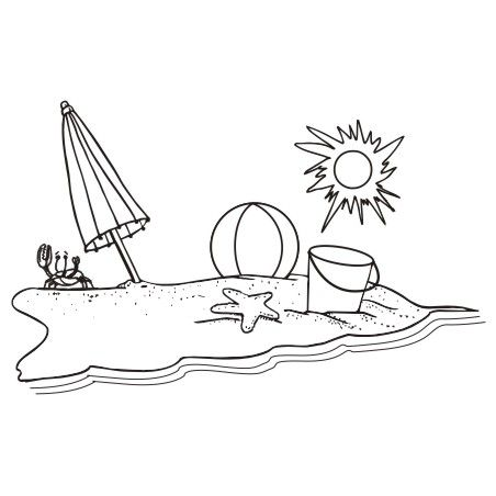 Image result for b&w beach clipart.