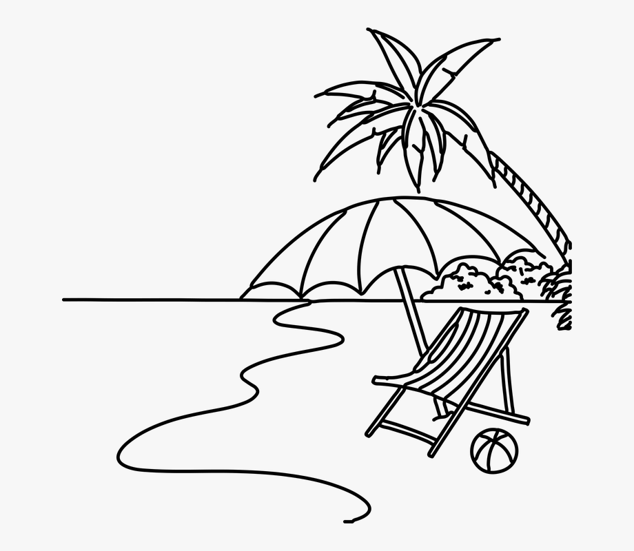 Black Clipart Beach.