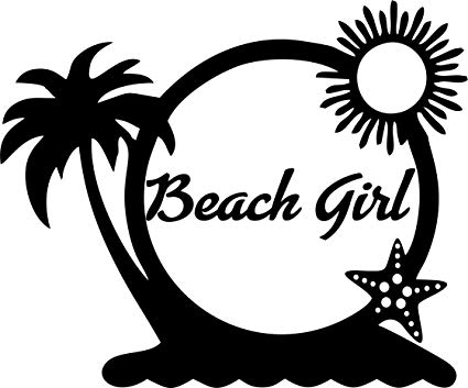 Amazon.com: Beach Girl Beach Scene Decal.