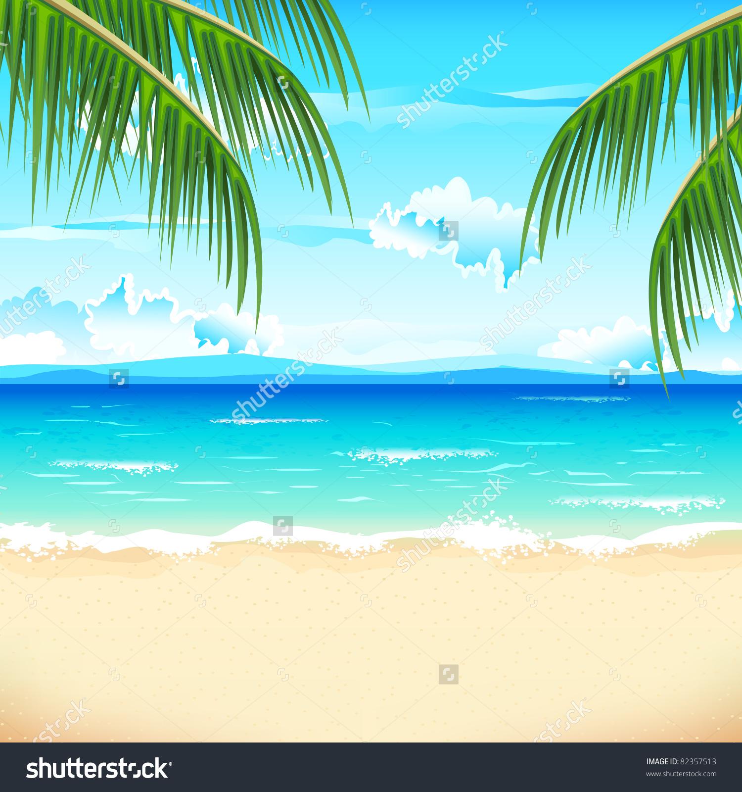 81+ Beach Scene Clipart.