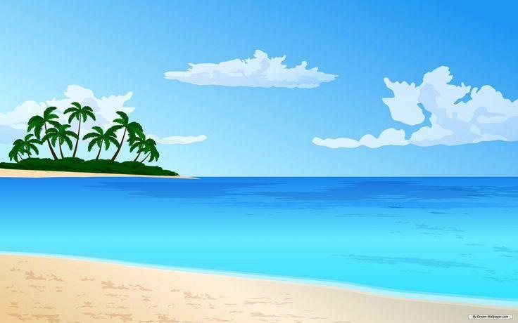 Image result for cartoon beach scene.