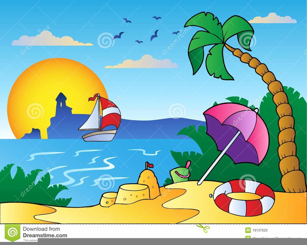 Free Beach Scene Clipart.