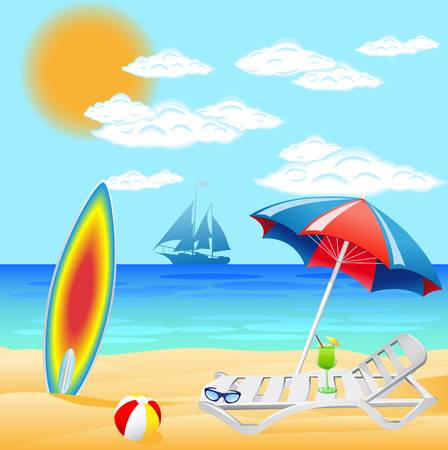 Clipart beach scenes 6 » Clipart Station.