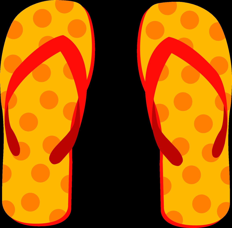 Flip Flops Beach Clipart.
