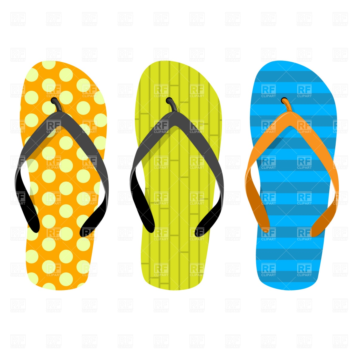 Beach thongs Vector Image #1205.