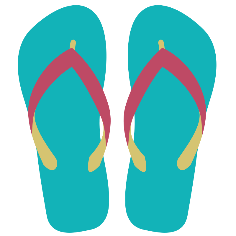 Beach sandals clipart.