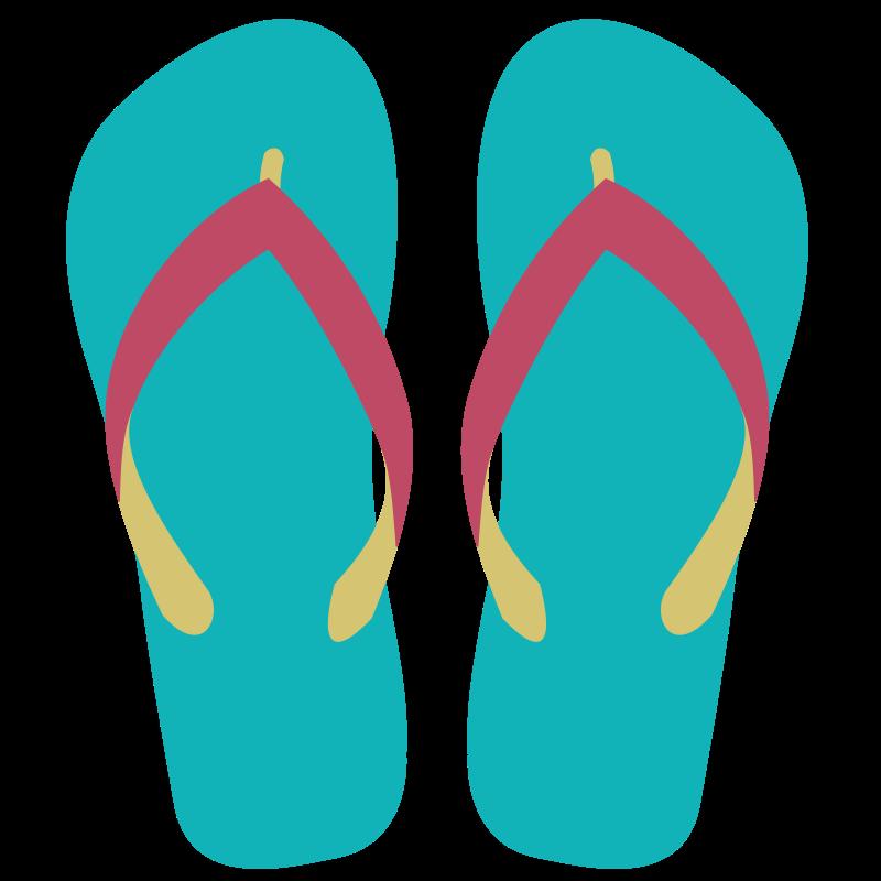 Beach sandals clipart.
