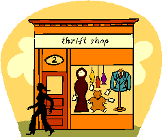Thrift Shop Clip Art.