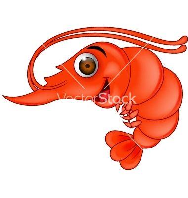 Sad Shrimp Digital Clipart.
