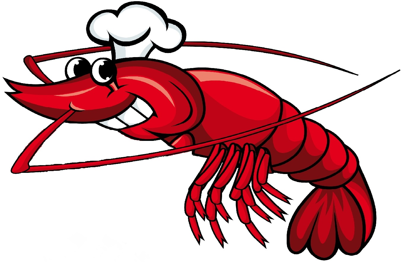 Cartoon Shrimp Clipart.