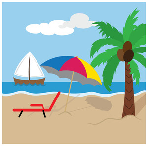 Free Beach Clip Art Image.