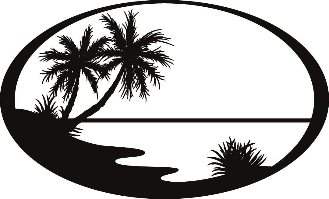 Silhouette Beach Sticker Clip art.