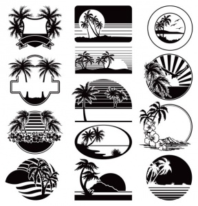 Beach Silhouette Png Clipart.