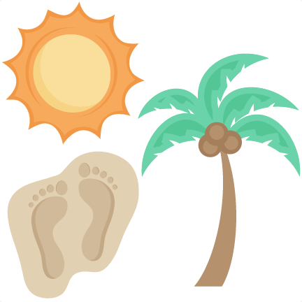 Beach Icons Set SVG scrapbook cut file cute clipart files for.