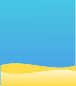 Ocean and beach and sky background clipart.