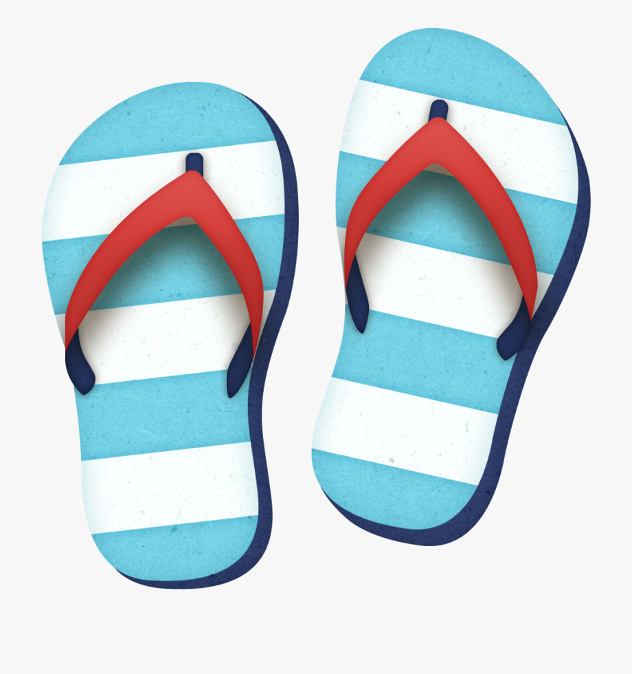 Beach Sandals Clipart, Cliparts & Cartoons.