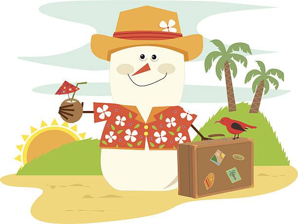 Best Beach Snowman Illustrations, Royalty.