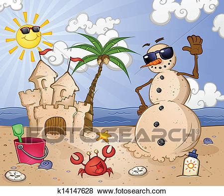 Tropical Beach Christmas Clipart Commercial Use Sand, Tropical Clip.
