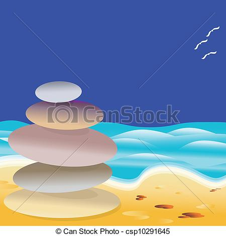 EPS Vector of Beach Stones.