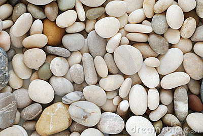 Beach Pebbles Background Stock Image.