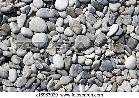 Stock Photograph of Beach Stones. Horizontal format x16967039.